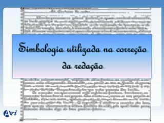 Simbologia utilizada na correção da redação
