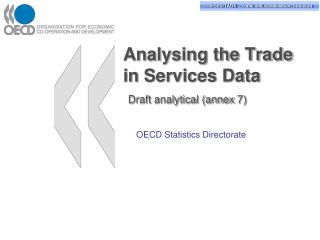 Analysing the Trade in Services Data