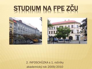 Studium na FPE ZČU