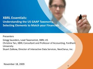 XBRL Essentials: Understanding the US GAAP Taxonomy,  Selecting Elements to Match your Financials
