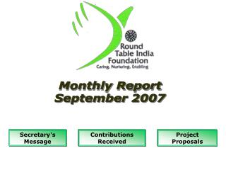 Monthly Report September 2007
