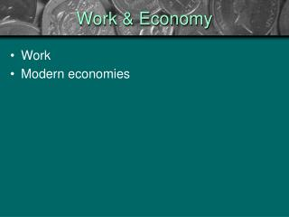 Work and the Economy
