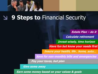 9 Steps to  Financial Security