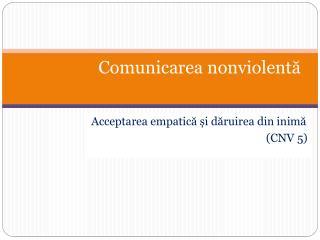 Comunicarea nonviolentă