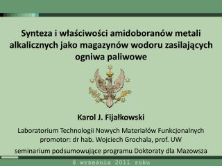 K arol J.  Fija ł kowski