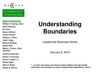 Understanding Boundaries