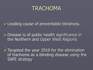 Ppt Trachoma Control In The Gambia Powerpoint