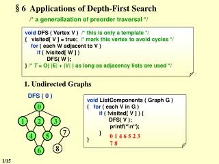 §6  Applications of Depth-First Search