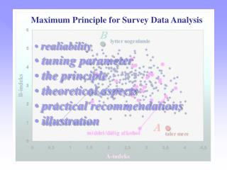 Maximum Principle for Survey Data Analysis
