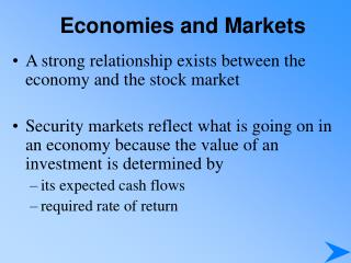 Economies and Markets