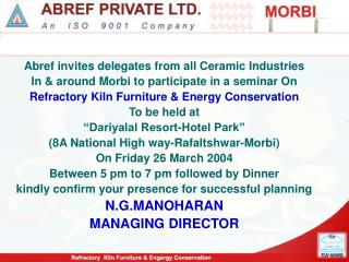 Abref invites delegates from all Ceramic Industries