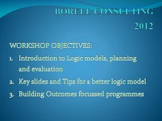 BORELL CONSULTING  2012