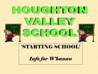 'STARTING SCHOOL' Info for Whanau