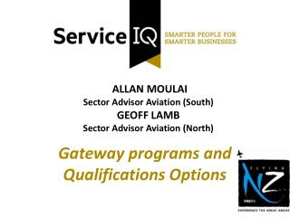 ALLAN MOULAI Sector Advisor Aviation (South) GEOFF LAMB Sector Advisor Aviation (North)