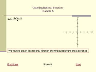 Graphing Rational Functions Example #7
