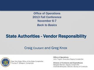 State Authorities - Vendor Responsibility