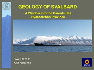 GEOLOGY OF SVALBARD