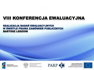 VIII Konferencja Ewaluacyjna