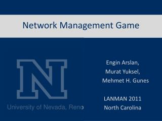 Network Management Game