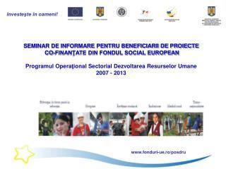 Contractare  Proiecte FSE I.  Modificarea contractelor II. Incetarea si rezilierea contractelor