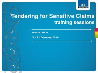Tendering for Sensitive Claims training sessions