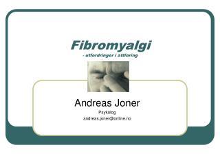 Fibromyalgi - utfordringer i attføring