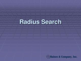 Radius Search