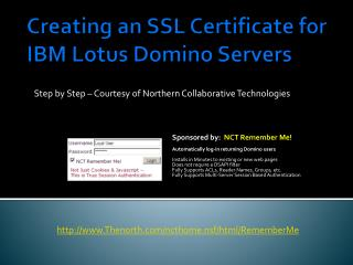 Creating an SSL Certificate for IBM Lotus Domino Servers