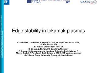 Edge stability in tokamak plasmas