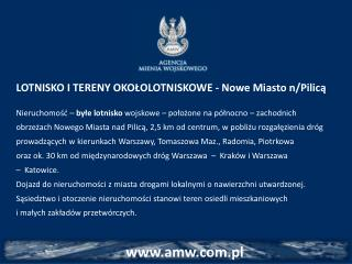 LOTNISKO I TERENY OKOŁOLOTNISKOWE - Nowe Miasto n/Pilicą