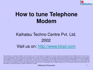 How to tune Telephone Modem