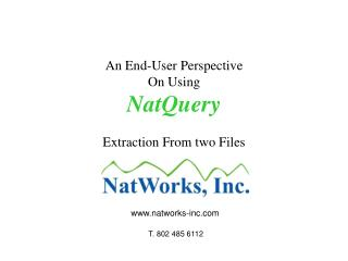 An End-User Perspective On Using NatQuery Extraction From two Files