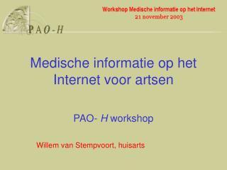 Medische informatie op het Internet voor artsen
