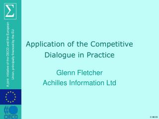 Application of the Competitive Dialogue in Practice