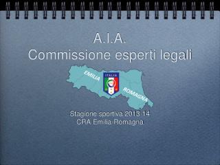 A.I.A. Commissione esperti legali
