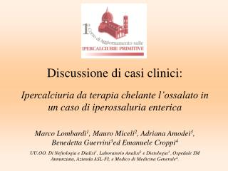 Discussione di casi clinici: