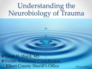 Understanding the Neurobiology of Trauma