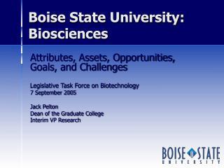 Boise State University:  Biosciences