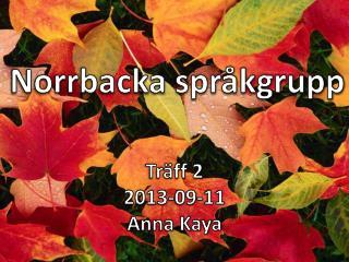 Norrbacka språkgrupp