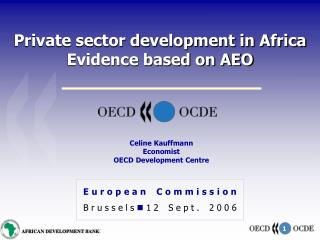 Private sector development in Africa Evidence based on AEO