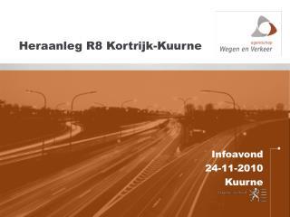 Heraanleg R8 Kortrijk-Kuurne
