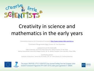 Creativity in science and mathematics in the early years