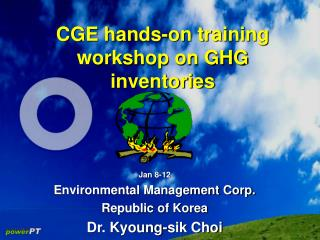 CGE hands-on training workshop on GHG inventories
