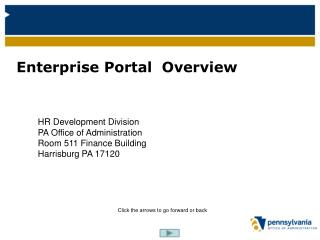 Enterprise Portal  Overview