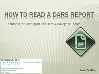 How to read a DARS Report
