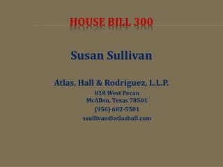 HOUSE  BILL 300
