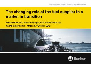 The changing role of the fuel supplier in a market in transition