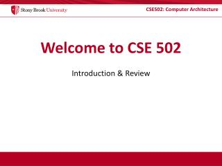 Welcome to CSE 502