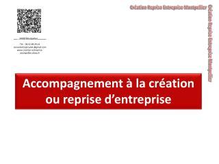 Accompagnement à la création ou reprise  d'entreprise