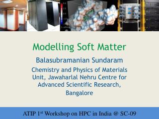 Modelling Soft Matter
